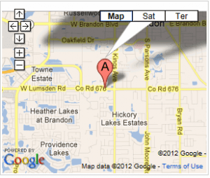 map of Brandon Acupuncture Center